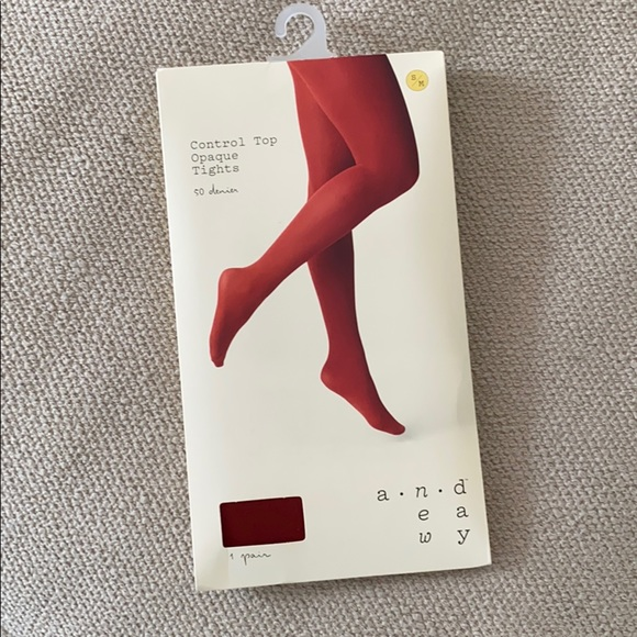 Target a new day control top opaque tights rust sm